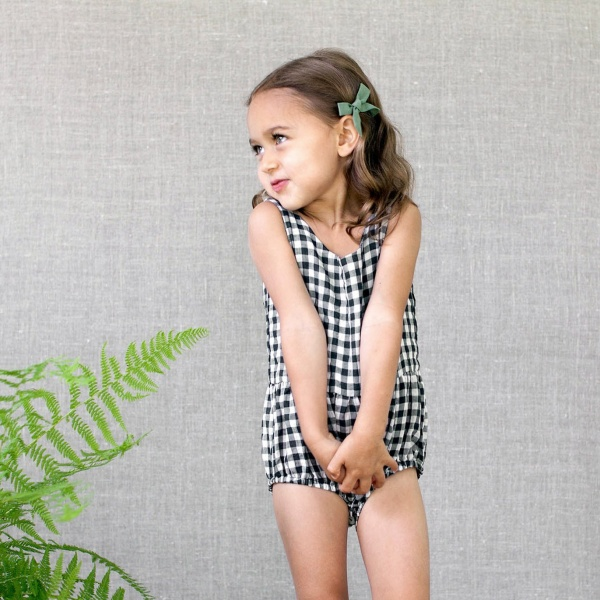 Lois playsuit - gingham