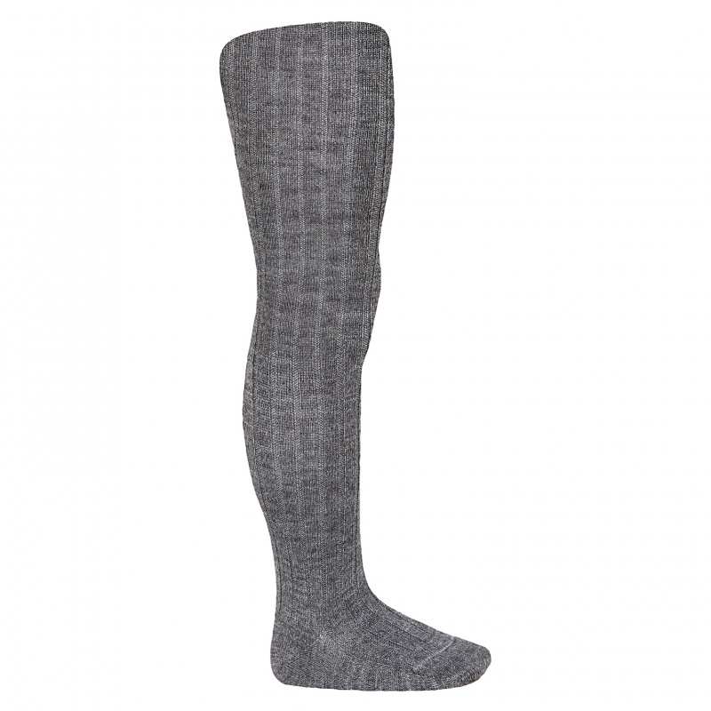 Cóndor strømpebukse Wool Ribb Medium Grey